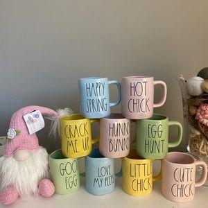Rae dunn easter mugs and gnome $20/ea